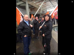 Annette and Scott attend protest against the Union Bill